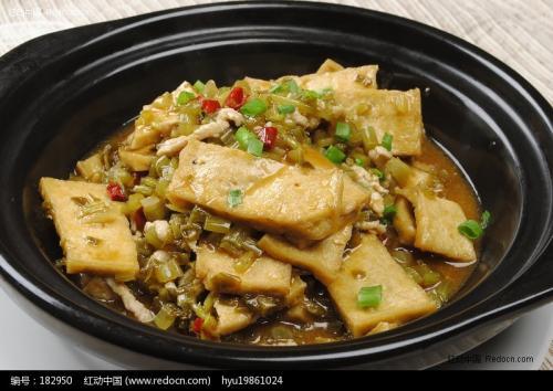 烂腌菜煮豆腐
