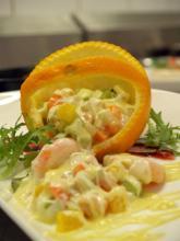 柳橙鲜虾沙律