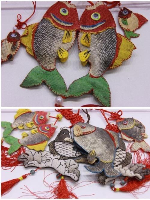 赫哲族鱼皮工艺品
