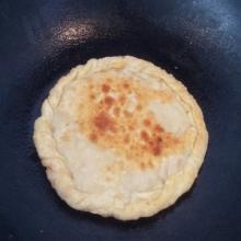 水饺豆沙馅饼