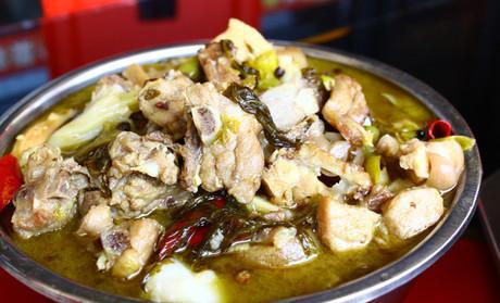 酸菜坨坨鸡